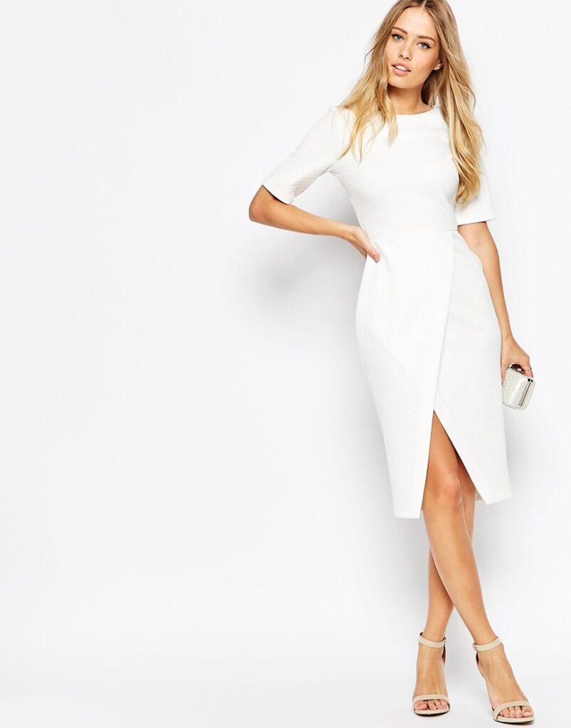 comment porter la robe blanche en hiver