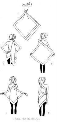 comment nouer foulard 3
