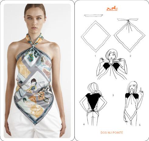 Comment nouer un foulard - blog mode Paris Soyons élégantes c27634b0323