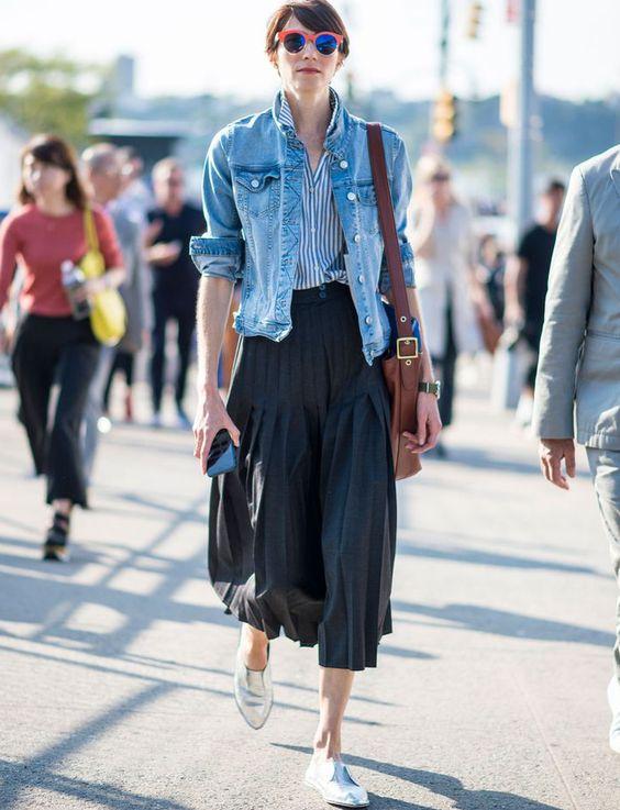 que porter avec une veste en jean longue