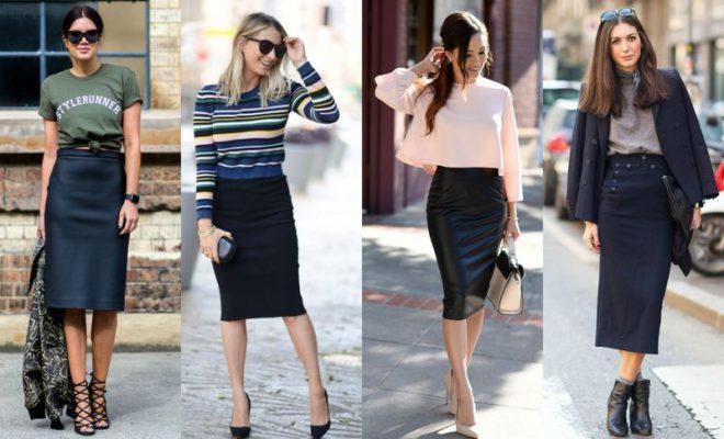 da14e6a02ec5 Comment porter la jupe crayon avec style - blog mode Paris Soyons ...