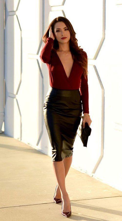 ae29581043e637 Comment porter la jupe crayon avec style - blog mode Paris Soyons ...