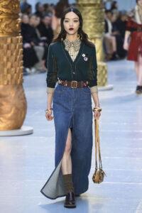 tendances de mode jupe en jean