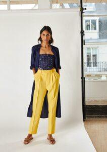 pantalon jaune mode éthique
