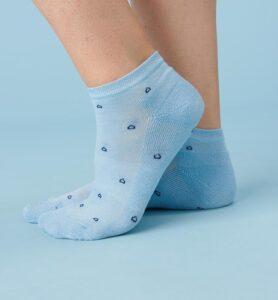 chaussettes tencel bleu